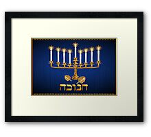 Golden Hanukkah largeGolden Hanukkah Framed Print