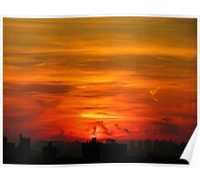 Sky ablaze, New York City  Poster