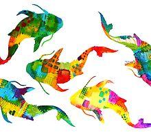 Koi of Colors Swim by emxacloud