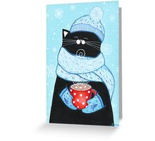 First Snowfall Cocoa Greeting Card