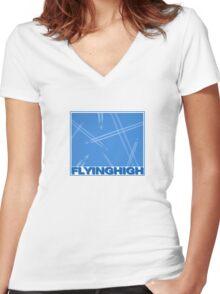Flying High Women's Fitted V-Neck T-Shirt
