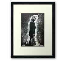 Eddie Vedder and His Ukulele Framed Print
