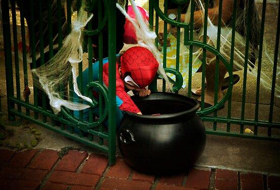 Spiderman needs candy by Lynn Starner