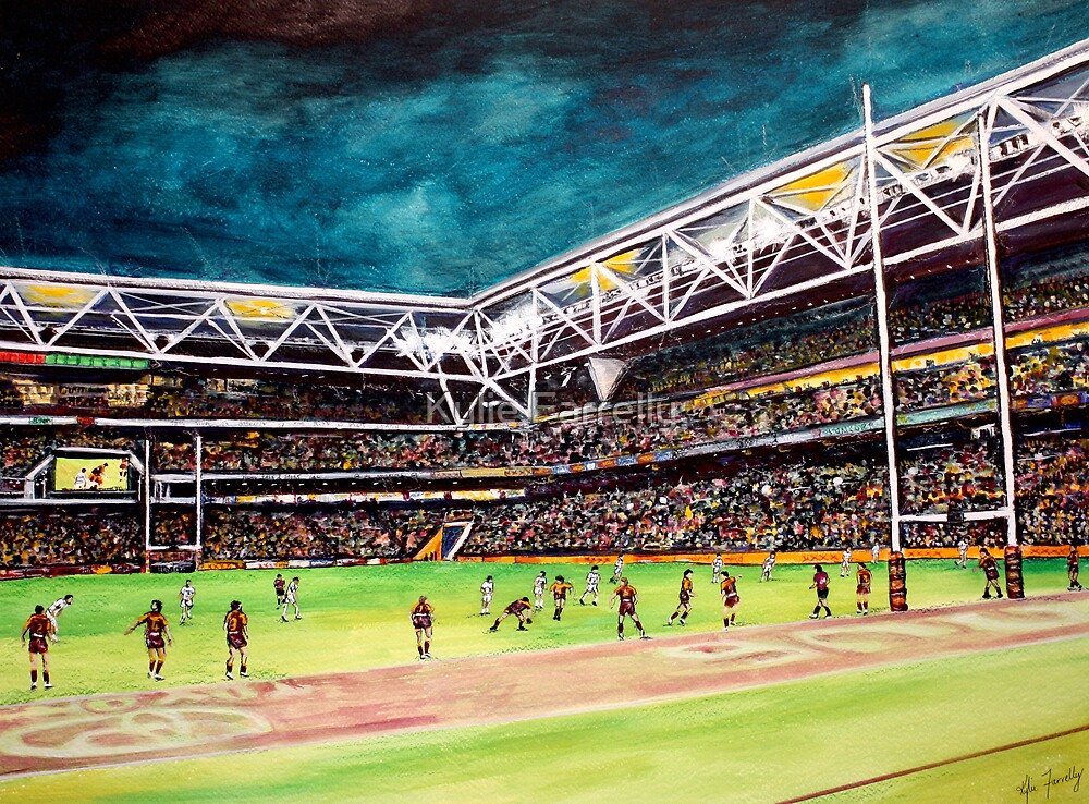 Broncos vs Titans by Kylie Farrelly