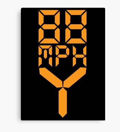 88 MPH The Speed of Time travel Canvas Print