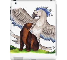 The willow-wren and the bear iPad Case/Skin