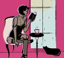 Gatsby Summer Rain Reading  by CecelyBloom