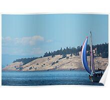 Sailing near Friday Harbor Poster