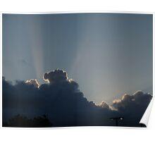 Maalaea Sunset Clouds Poster