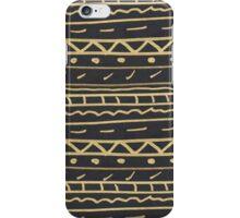 Elegant black gold paint hand made aztec iPhone Case/Skin