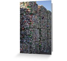 City of Bottles Greeting Card