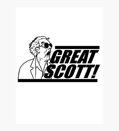 Doc E. Brown Great Scott Photographic Print