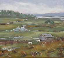 Salt Marsh Sheep by katherine rohnert