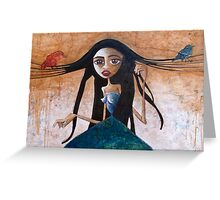 Miss Communication Greeting Card