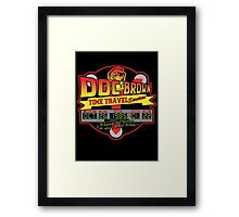Doc E. Brown Time Travel Services Framed Print
