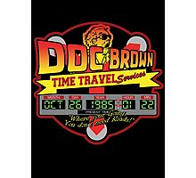 Doc E. Brown Time Travel Services Photographic Print