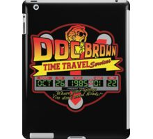Doc E. Brown Time Travel Services iPad Case/Skin