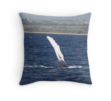 Humpback Whale Pec Underside Throw Pillow