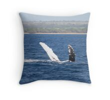 Humpback Whale Belly Up Throw Pillow