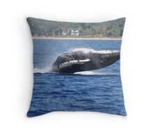 Humpback Breaching - 2 of 3 Throw Pillow