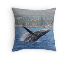 Humpback Breach 1 of 3 Throw Pillow