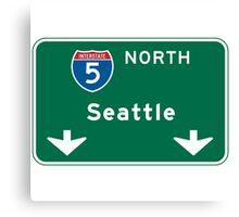 Seattle, WA Road Sign Canvas Print