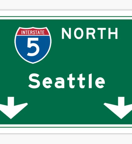 Seattle, WA Road Sign Sticker