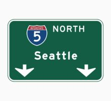 Seattle, WA Road Sign Baby Tee