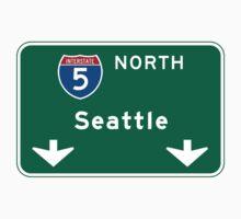 Seattle, WA Road Sign Kids Tee