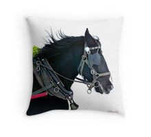 Working horse Throw Pillow