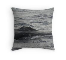 Humpback Whale Splash Guard Throw Pillow