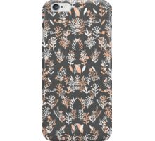 Trendy coral white watercolor floral pattern iPhone Case/Skin