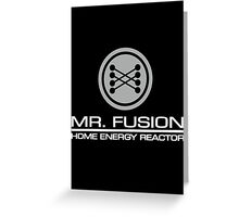Mr Fusion Home Energy Reactor Greeting Card