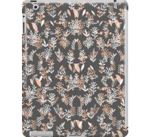 Trendy coral white watercolor floral pattern iPad Case/Skin