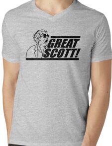 Doc E. Brown Great Scott Mens V-Neck T-Shirt
