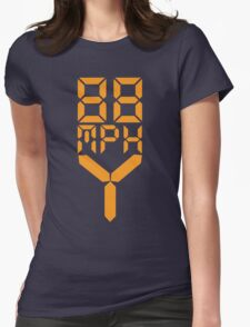 88 MPH The Speed of Time travel Womens Fitted T-Shirt
