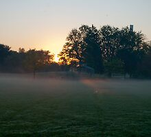 Misty Thanksgiving Morning at Connaught Park by Gary Chapple