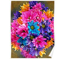 The Most Colorful Flowers Poster