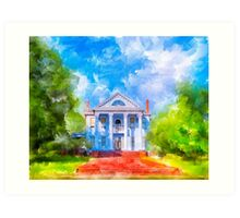 Classic Old Southern Neoclassical Style Mansion Art Print