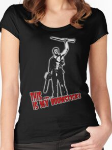 Ash - Evil Dead/Army of Darkness - Boomstick (Updated) Women's Fitted Scoop T-Shirt