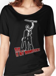 Ash - Evil Dead/Army of Darkness - Boomstick (Updated) Women's Relaxed Fit T-Shirt