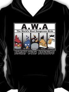 Angry With Attitude - Gangster Birds T-Shirt