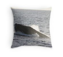 Humpback Male Throw Pillow