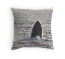 Humpback Crucifix Throw Pillow