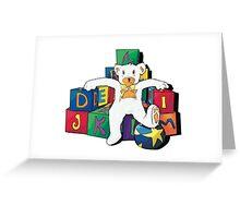 Teddy On The Blocks Greeting Card