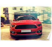Red sport car Poster
