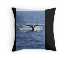 Humpback Whale Fluke Up Dive Throw Pillow