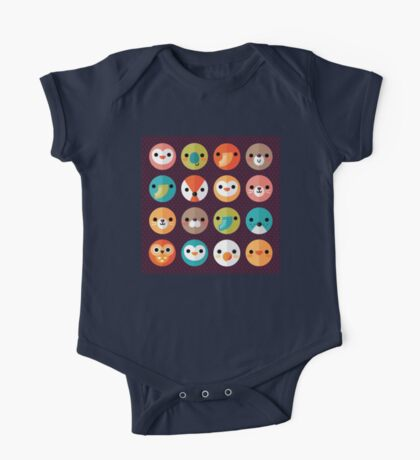 Smiley Faces One Piece - Short Sleeve