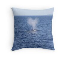 Humpback Blow Throw Pillow