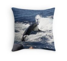 Friendly Humpback Whale Throw Pillow
